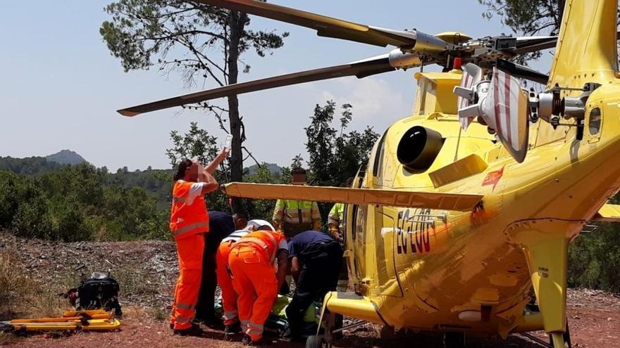 Un ciclista de 66 años resulta herido tras caerse en la N-225 a la altura de Soneja