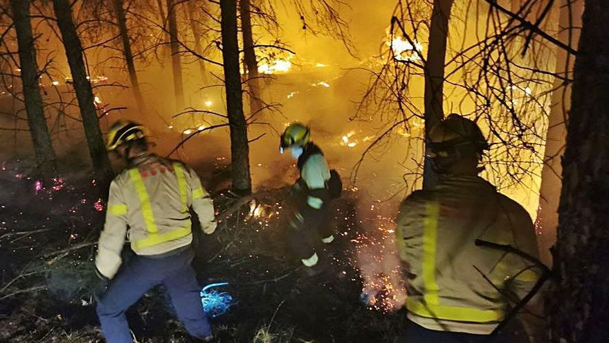 Apagado el fuego que quemó 87 hectáreas en Cataluña y Aragón