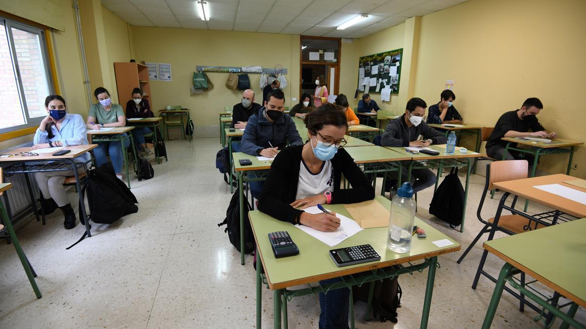 Uno de los exámenes celebrados hoy en el IES A Xunqueira I