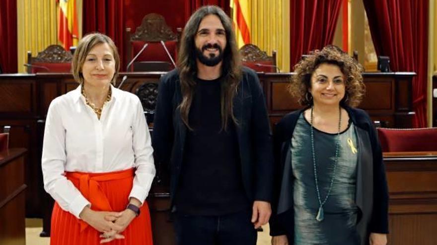 Forcadell visita el Parlament balear i defensa la innocència dels «Jordis»