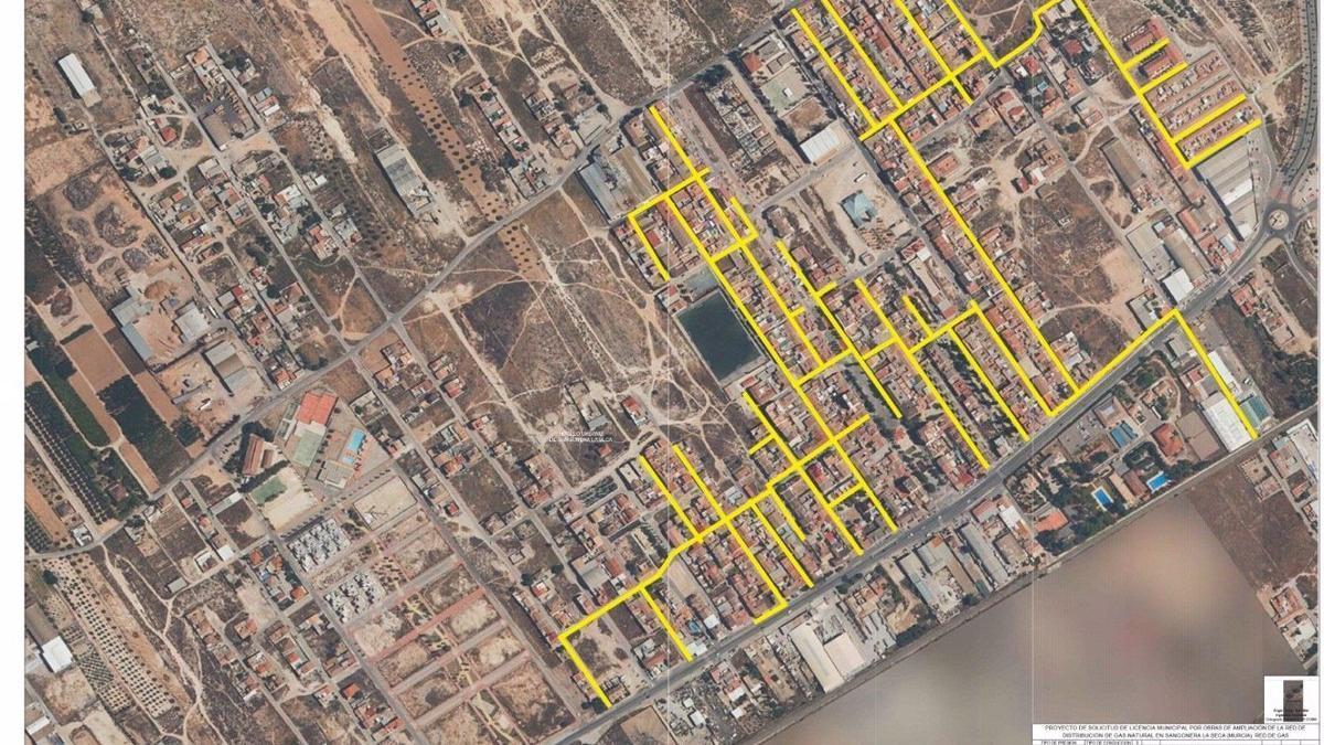 Imagen aérea de Sangonera La Seca