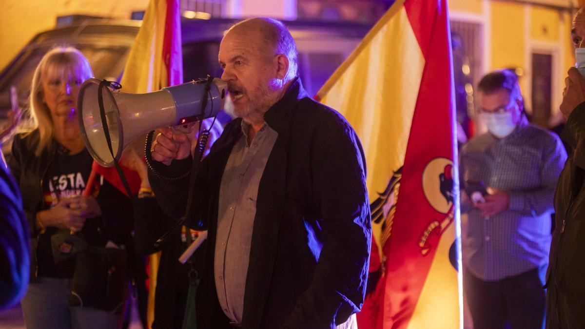 José Luis Roberto en una manifestación