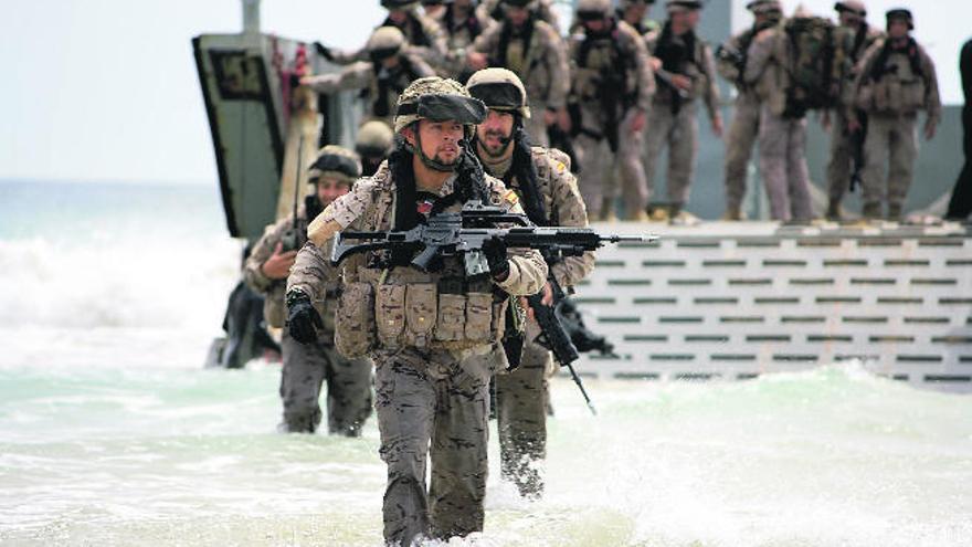 Desembarco con los marines españoles
