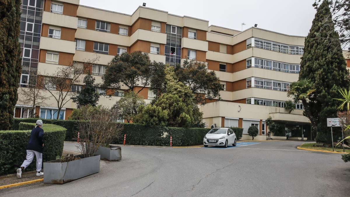 Entrada a la residencia Asistida de Cáceres.