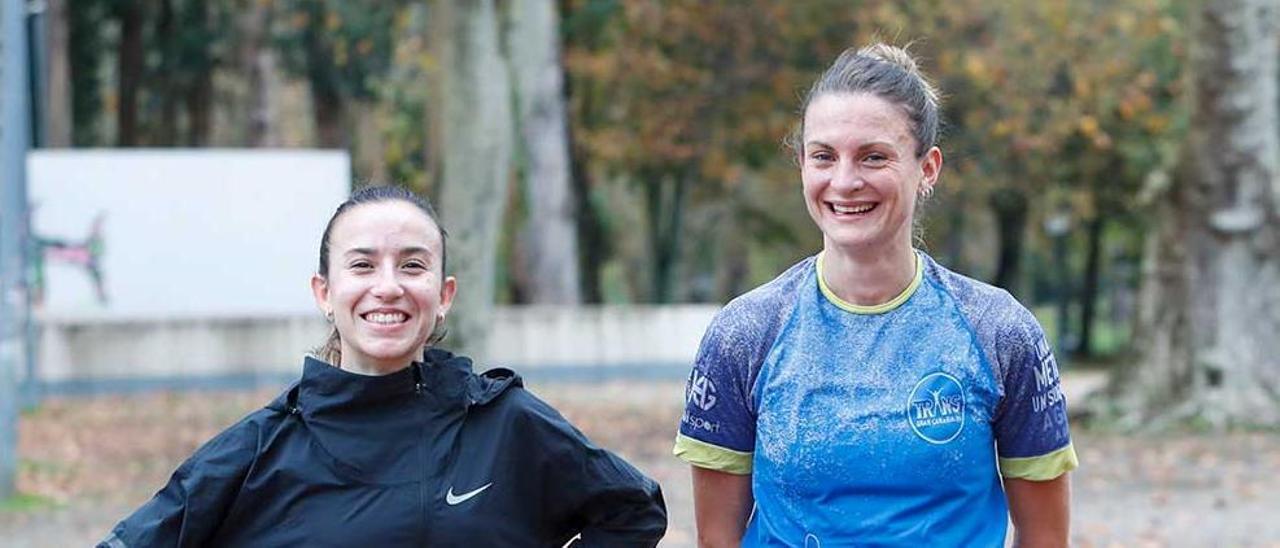 Carmela Cardama y Alice Finot, después de un entrenamiento
