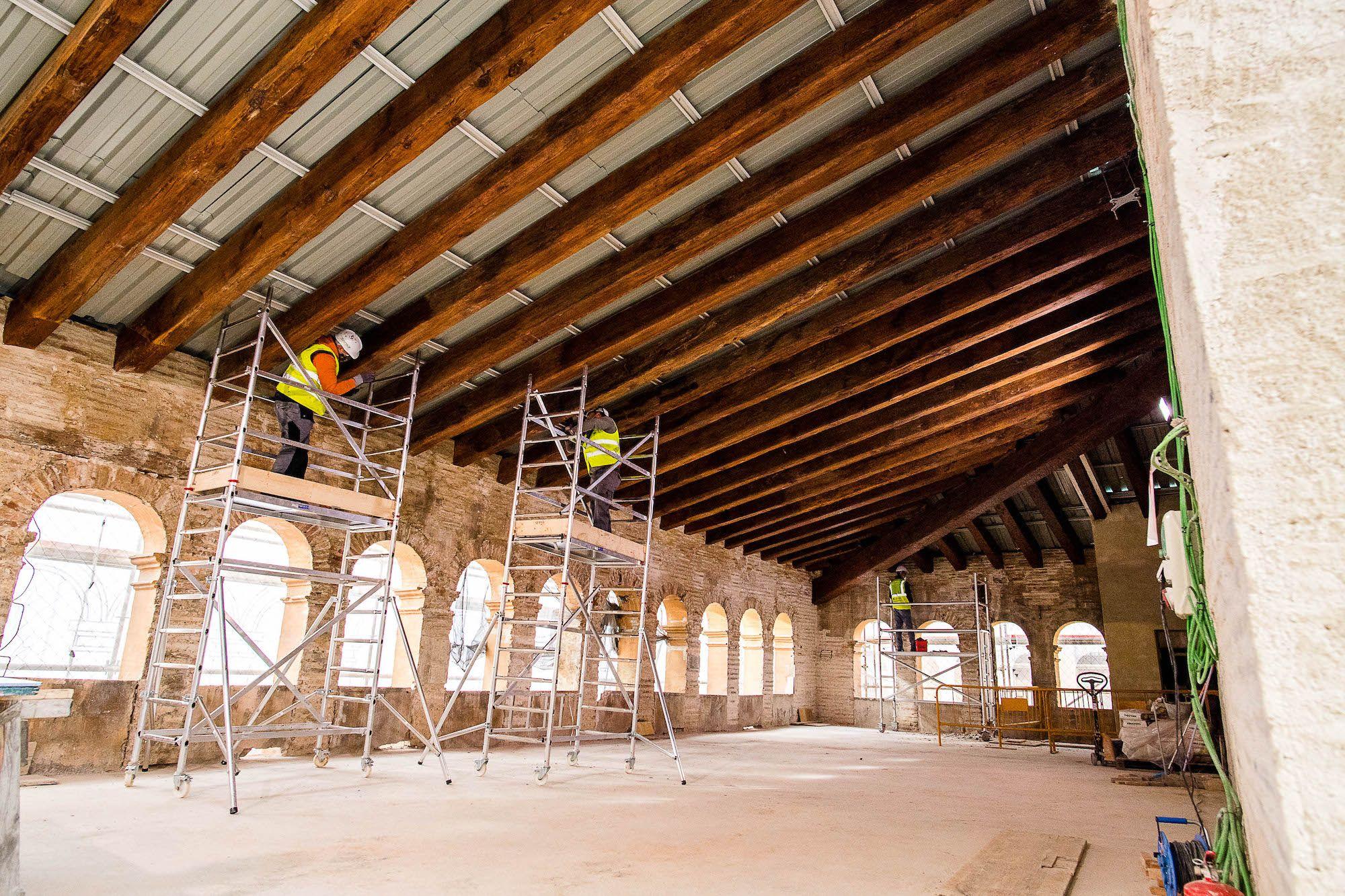 Los trabajos de adecuación incluyen la rehabilitación de la andana del edificio(1).jpg