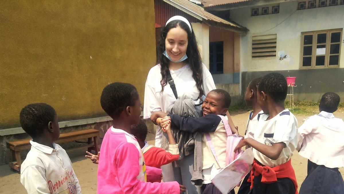 Patricia Pérez, jóven voluntaria en la República Democrática del Congo