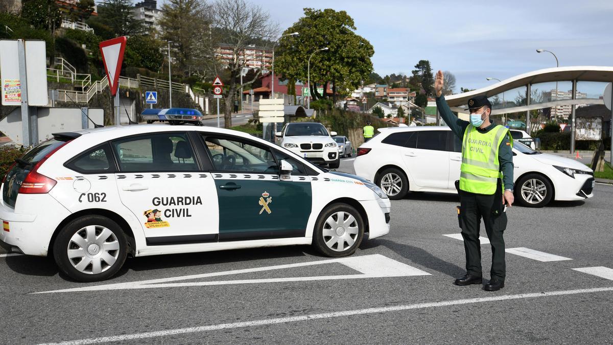 Controles de movilidad en Pontevedra