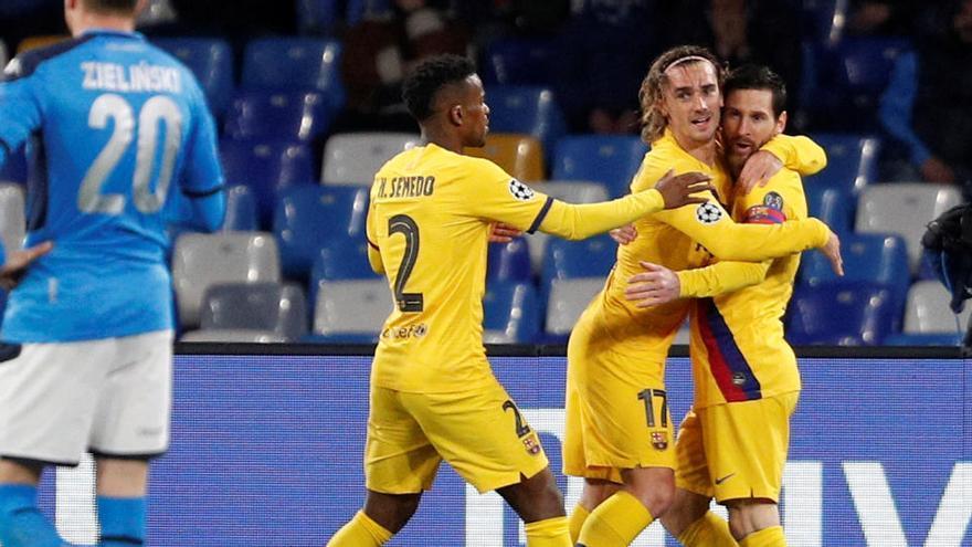 Oportunidad final para el Barça frente a un emergente Nápoles