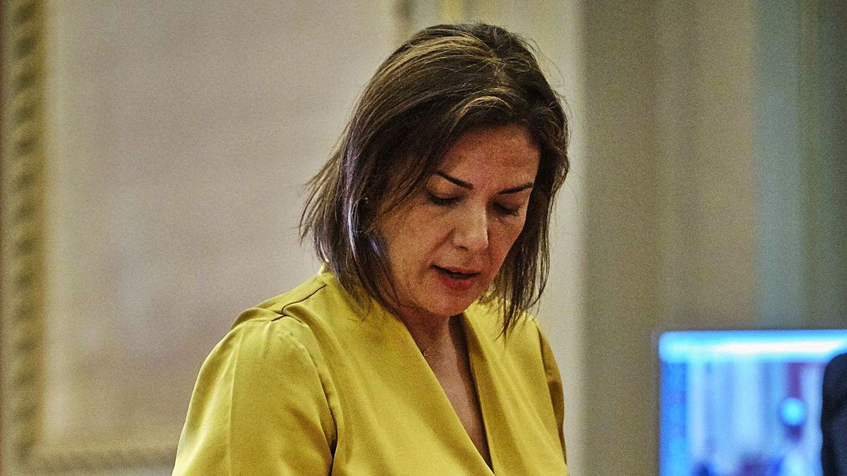 Evelyn Alonso toma posesión como concejal del Ayuntamiento de Santa Cruz de Tenerife.     ANDRÉS GUTIÉRREZ