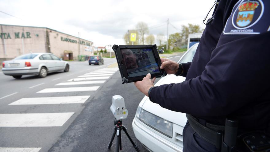 La Policía Local de Pontevedra realiza controles de velocidad durante una semana