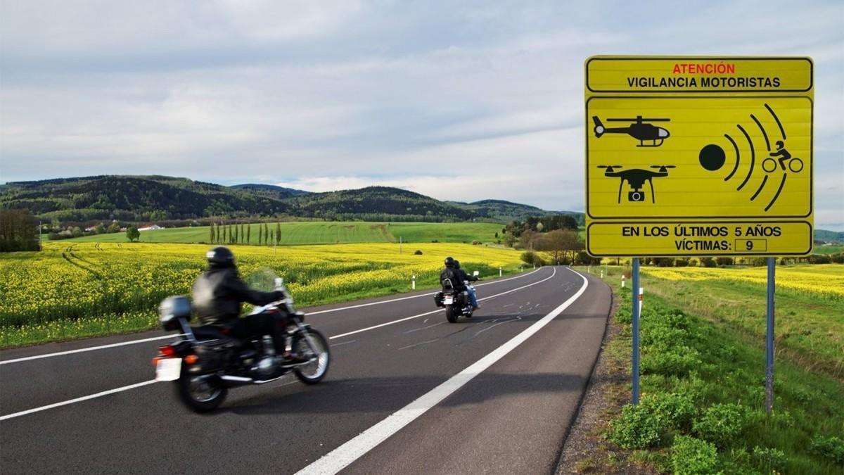Estos son los 100 tramos de riesgo para motoristas que la DGT va a vigilar y controlar