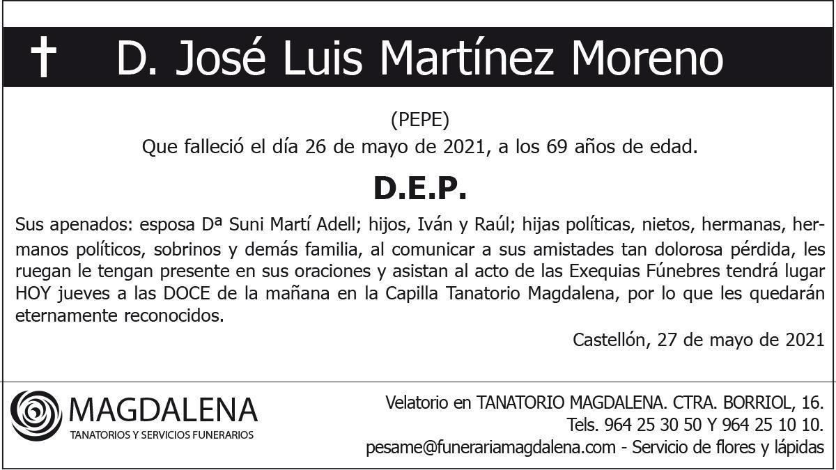 D. José Luis Martínez Moreno