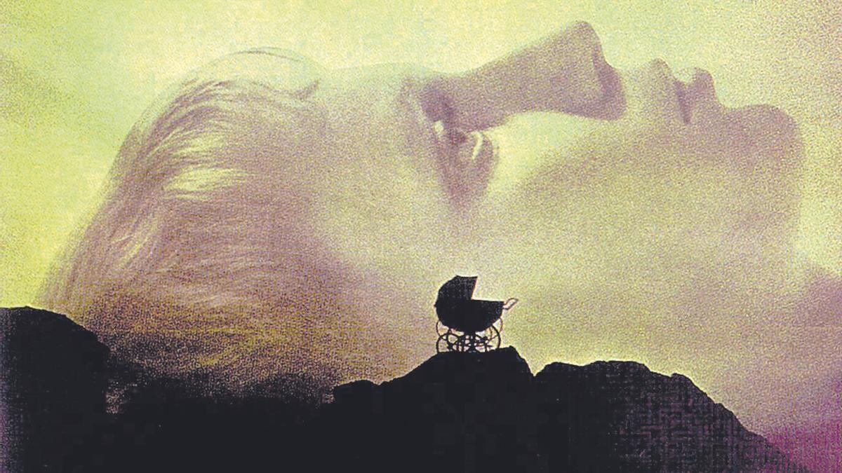 Mia Farrow en el cartel de La semilla del diablo.