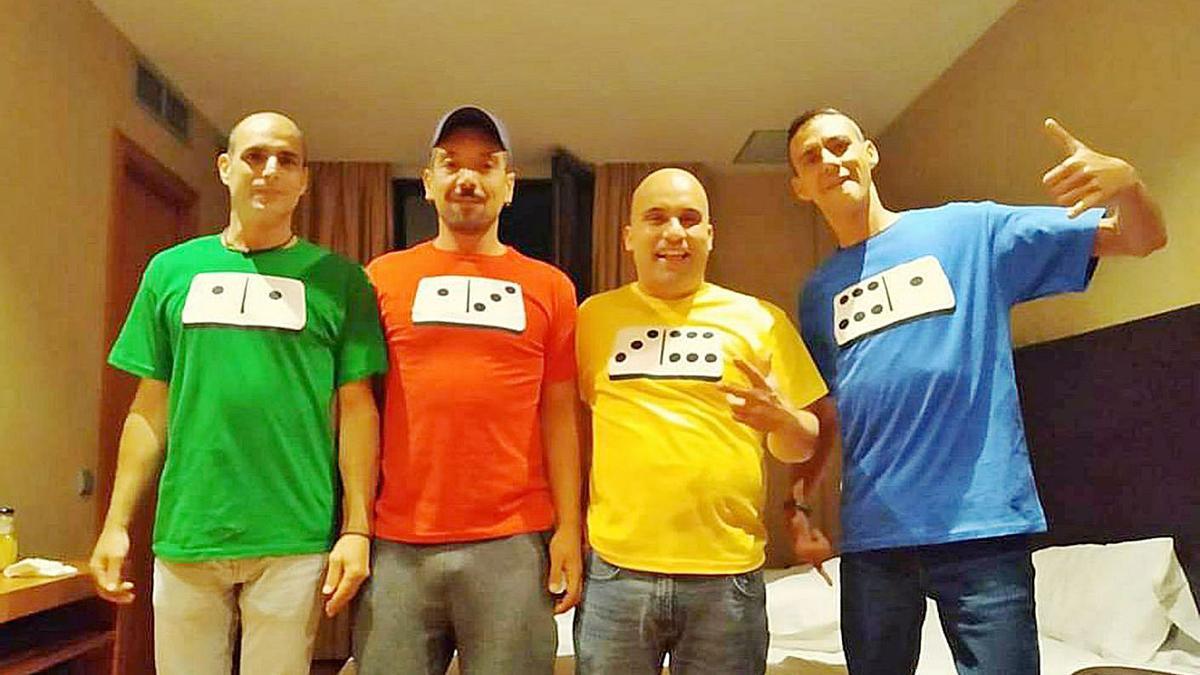 Los cuatro marinenses participantes.   | // FDV