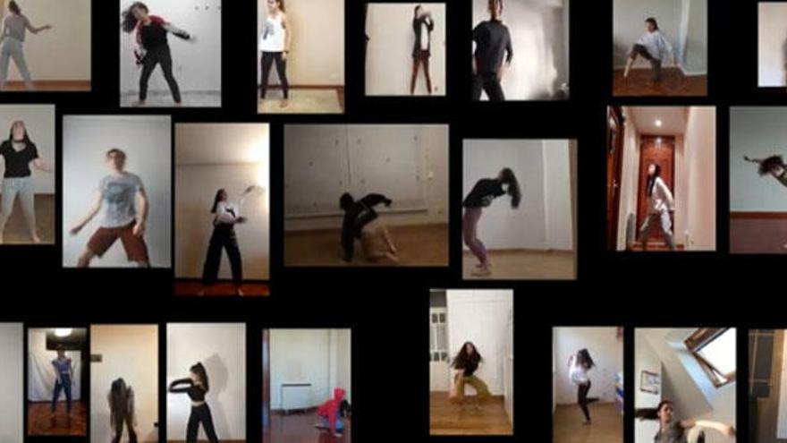 Los alumnos del Conservatorio de Danza bailan 'online'