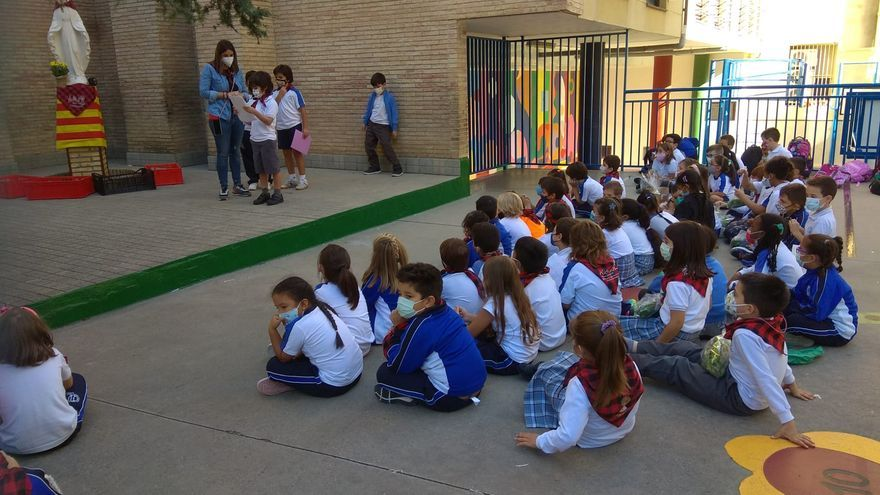 El Colegio San Vicente de Paúl de Zaragoza realiza su particular Ofrenda de frutos