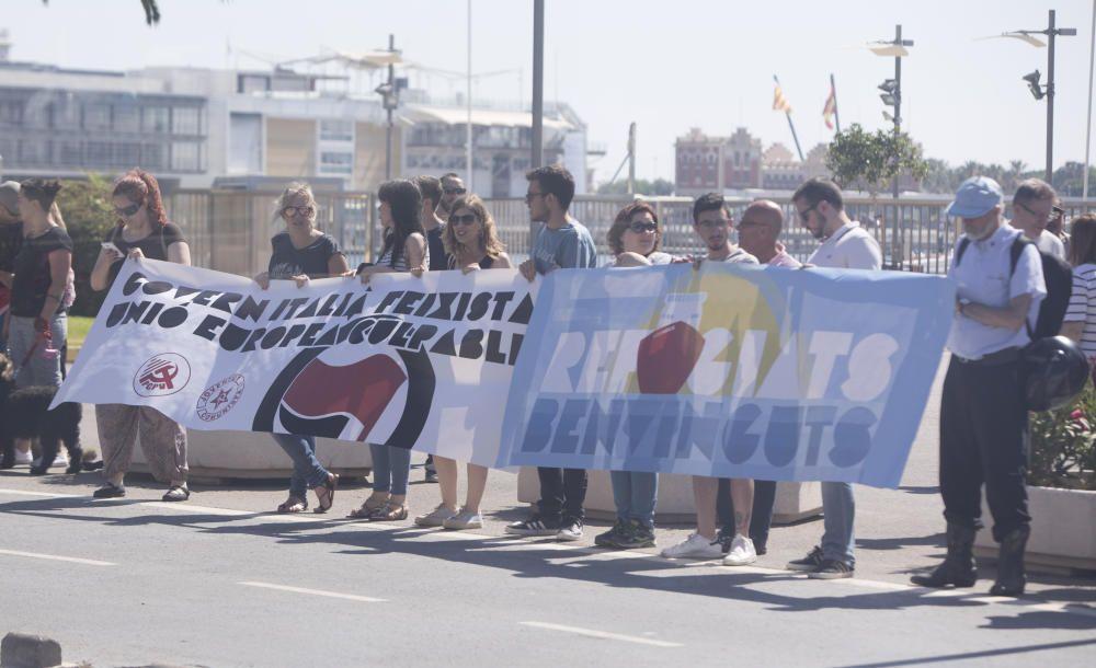 La llegada del Dattilo, el Orione y el Aquarius a València