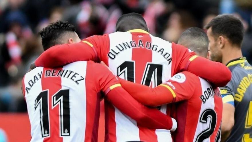 El Girona golea y la UD Las Palmas continúa en caída libre