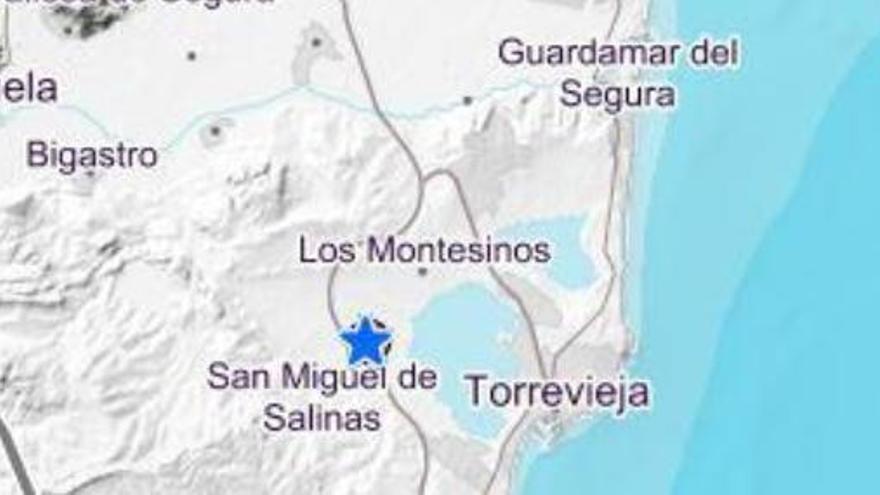 Un terremoto de 3,1 de magnitud en San Miguel de Salinas alerta a Alicante