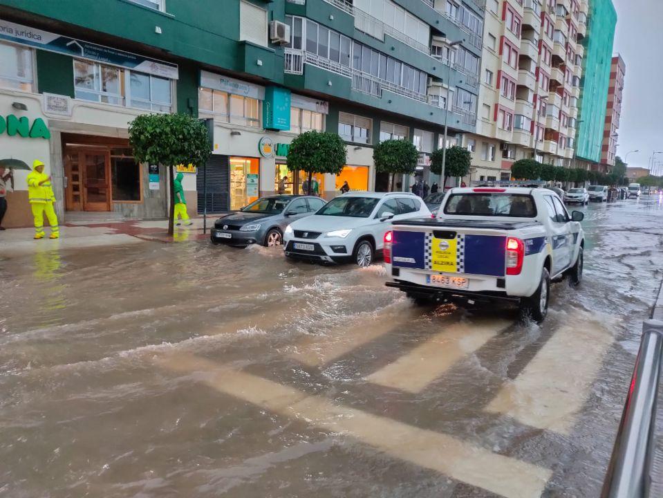 Calles inundadas en Alzira