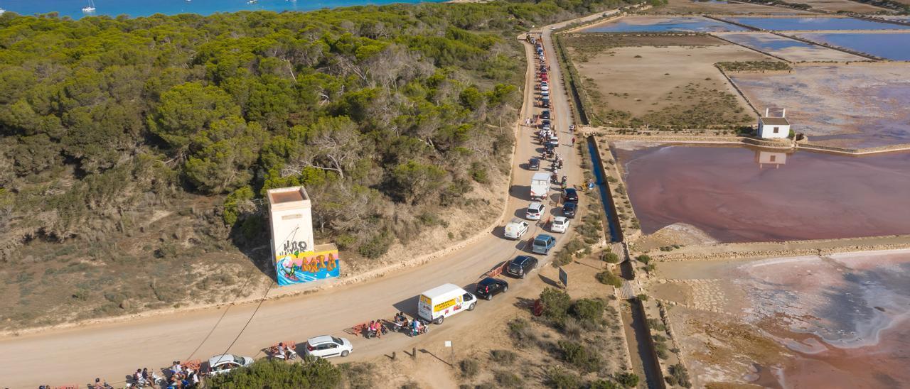 Imagen de archivo de la entrada de vehículos a la zona de ses Illetes