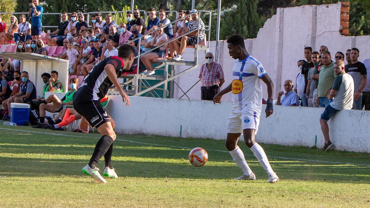 Una imagen del partido disputado en Caravaca