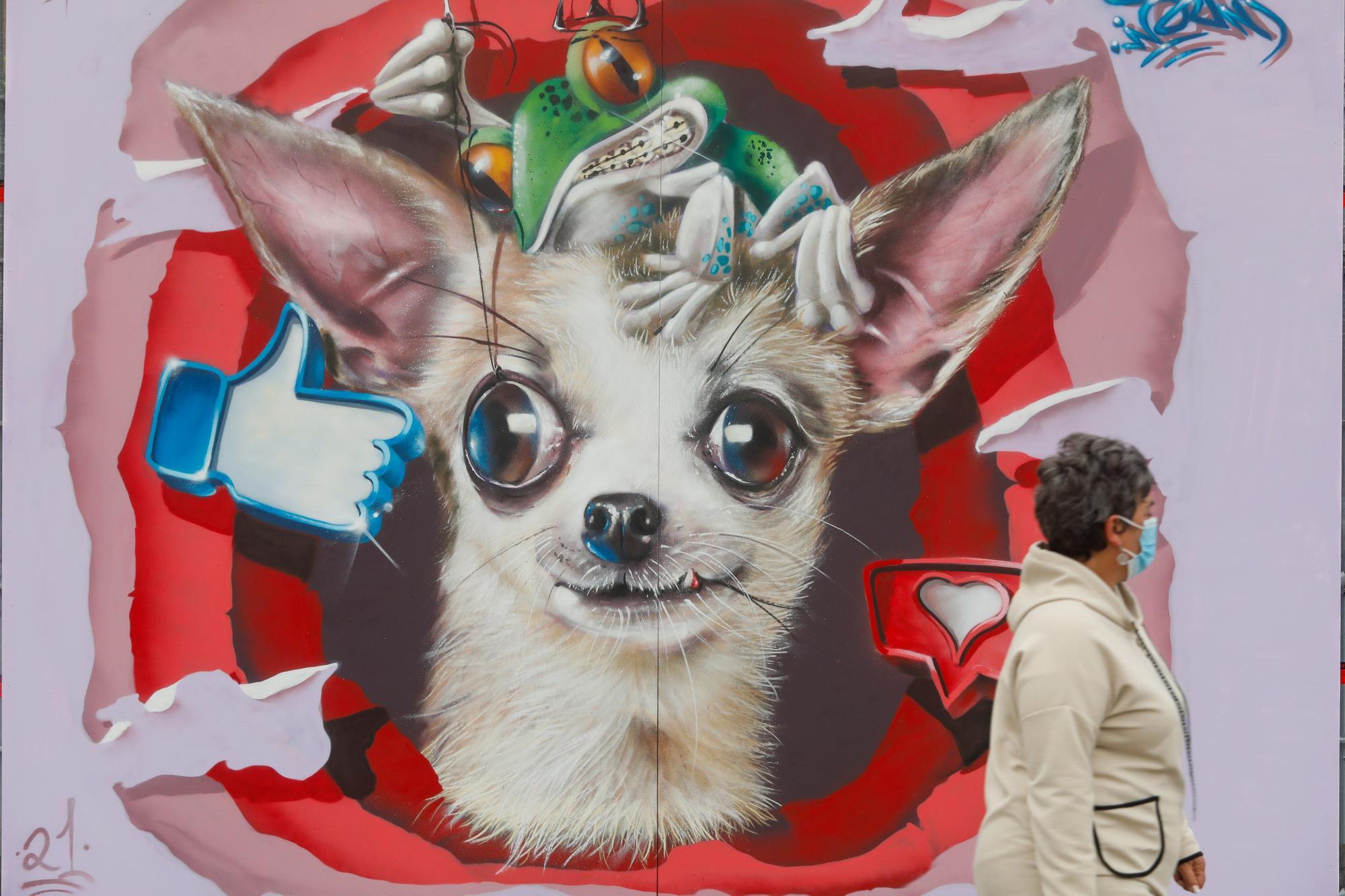 Estos son los graffitis que la Liga Nacional  ha dejado en Avilés