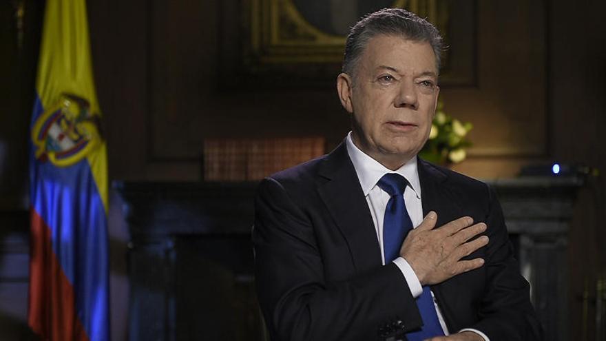"""Santos se despide y le desea """"lo mejor"""" a Iván Duque"""
