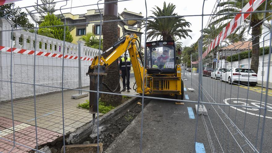 La calle Góngora cambia de sentido por las obras de la MetroGuagua