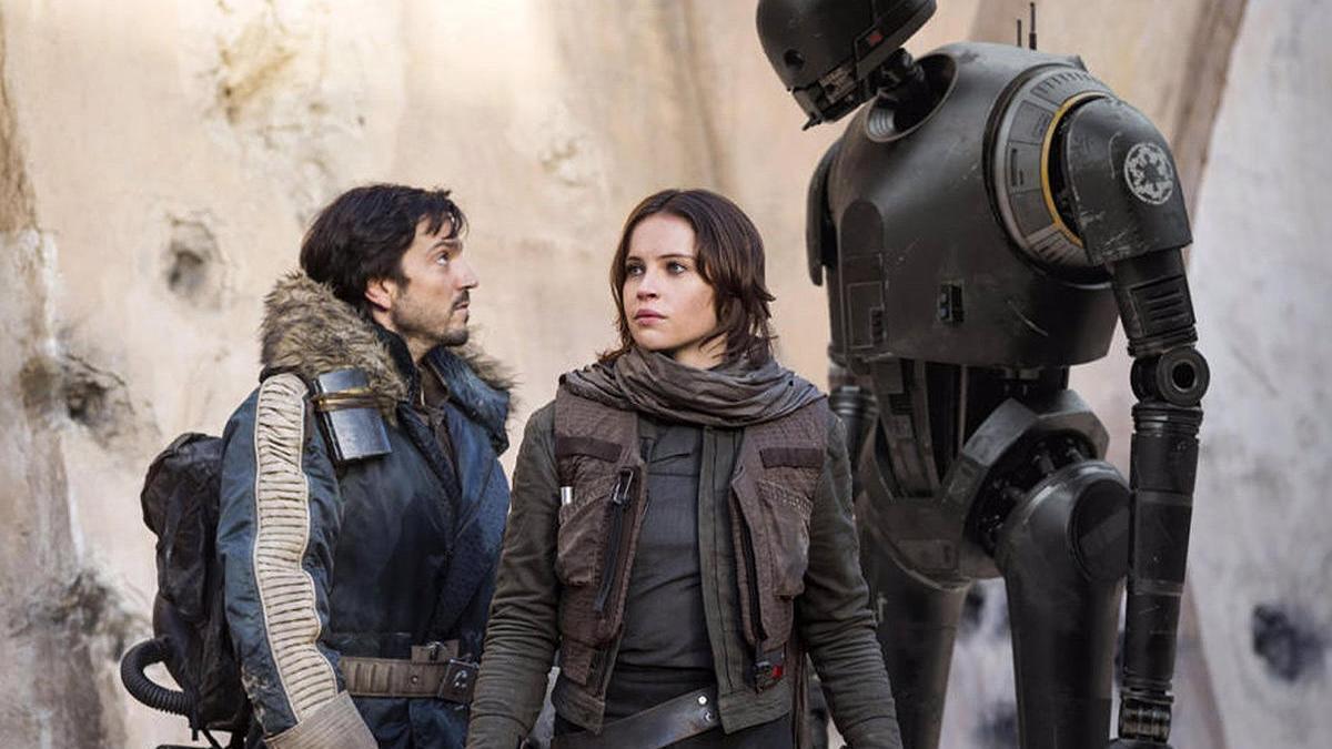 Una escena de 'Rogue One: Una historia de Star Wars'.