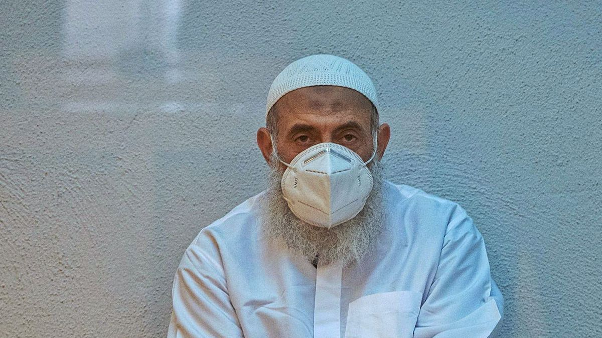El imán Shashaa durante el juicio en la Audiencia Nacional.