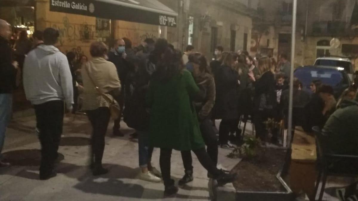 Escenas presenciadas esta misma tarde en Churruca. // Cedida