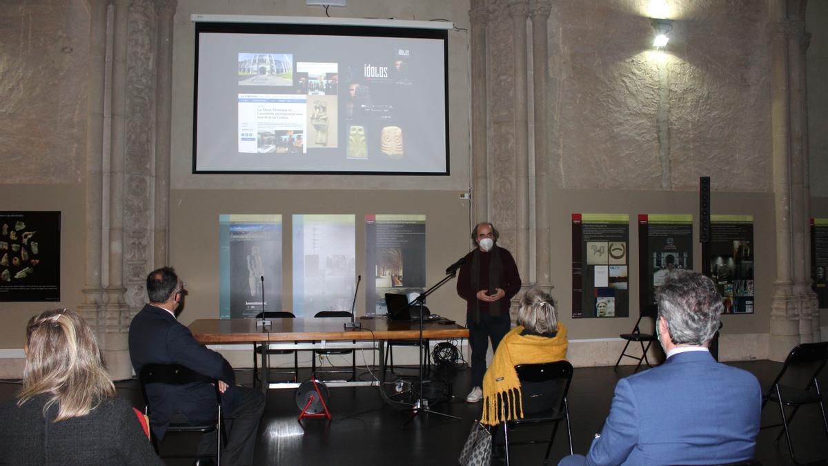 Jorge Soler, durante la presentación del proyecto en Lisboa