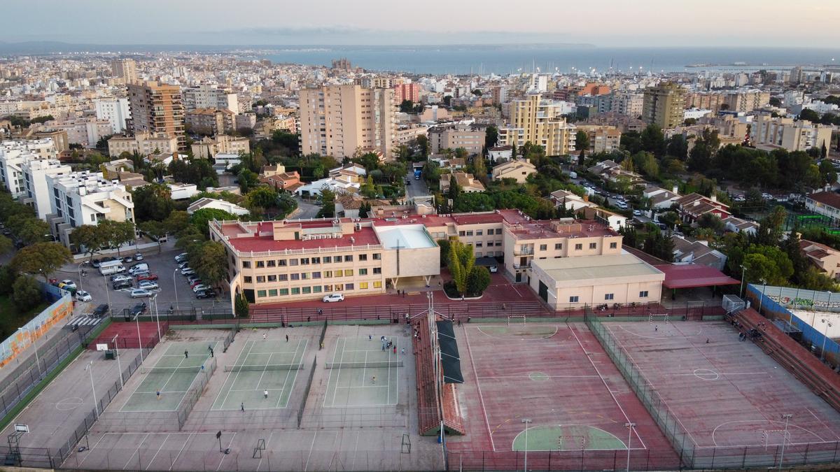 Vista aérea del Colegio La Purísima