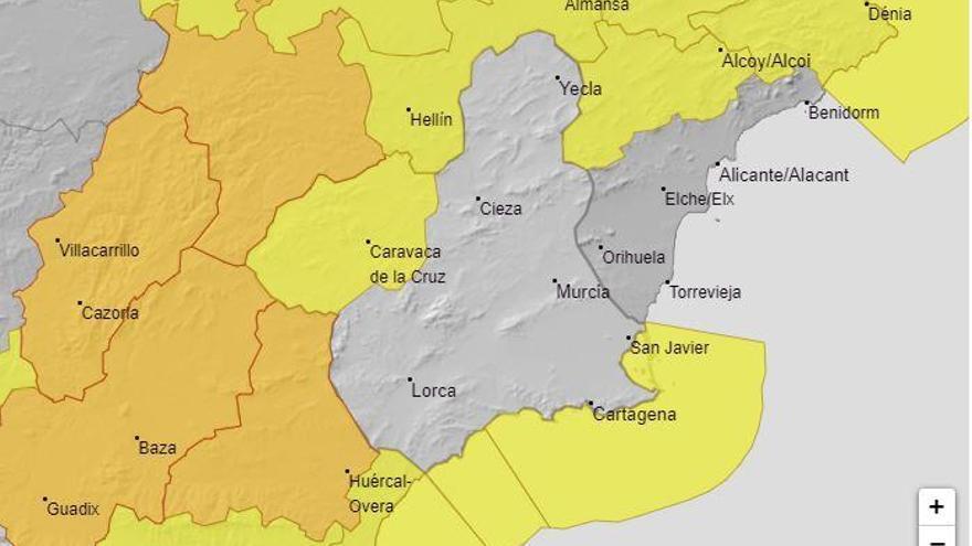 Aviso amarillo por fuertes vientos en el Noroeste de la Región