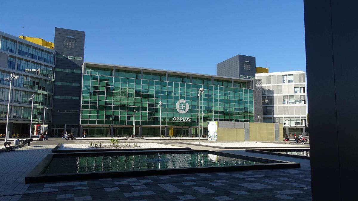 Imagen de la sede de Opplus en el PTA.