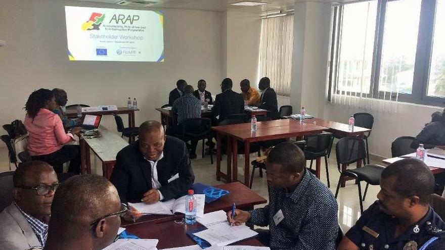 Clases anticorrupción en Ghana