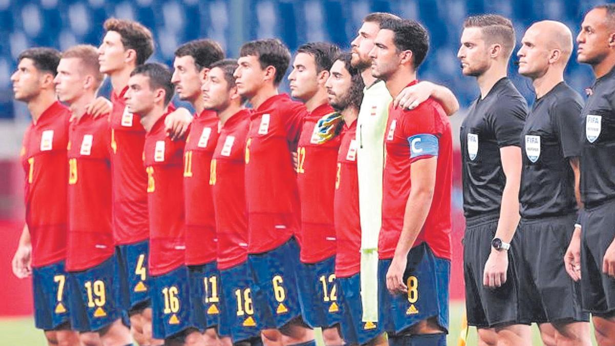 El once español que se enfrentó a Argentina
