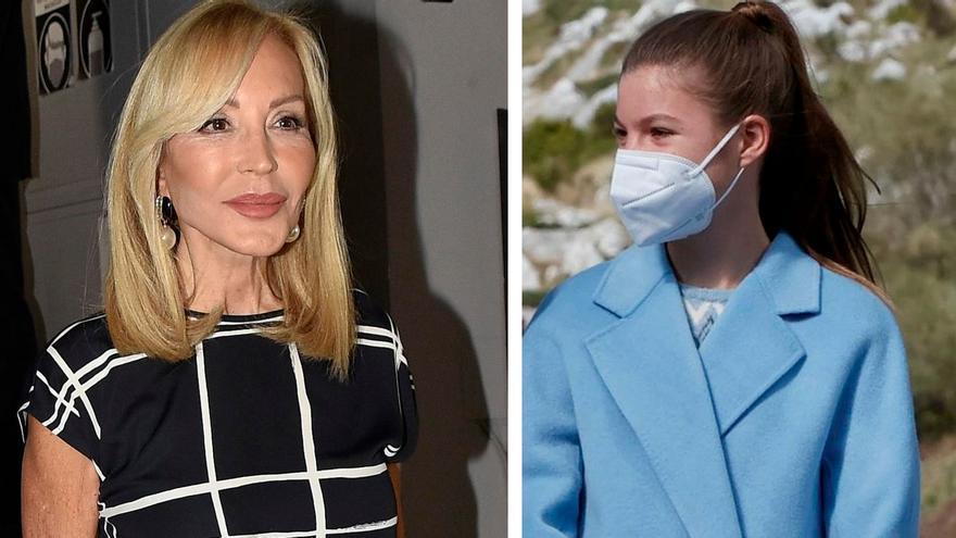 """Carmen Lomana se disculpa ante la Infanta Sofía: """"No sé por qué he dicho esa tontería, si no tiene las piernas gordas"""""""