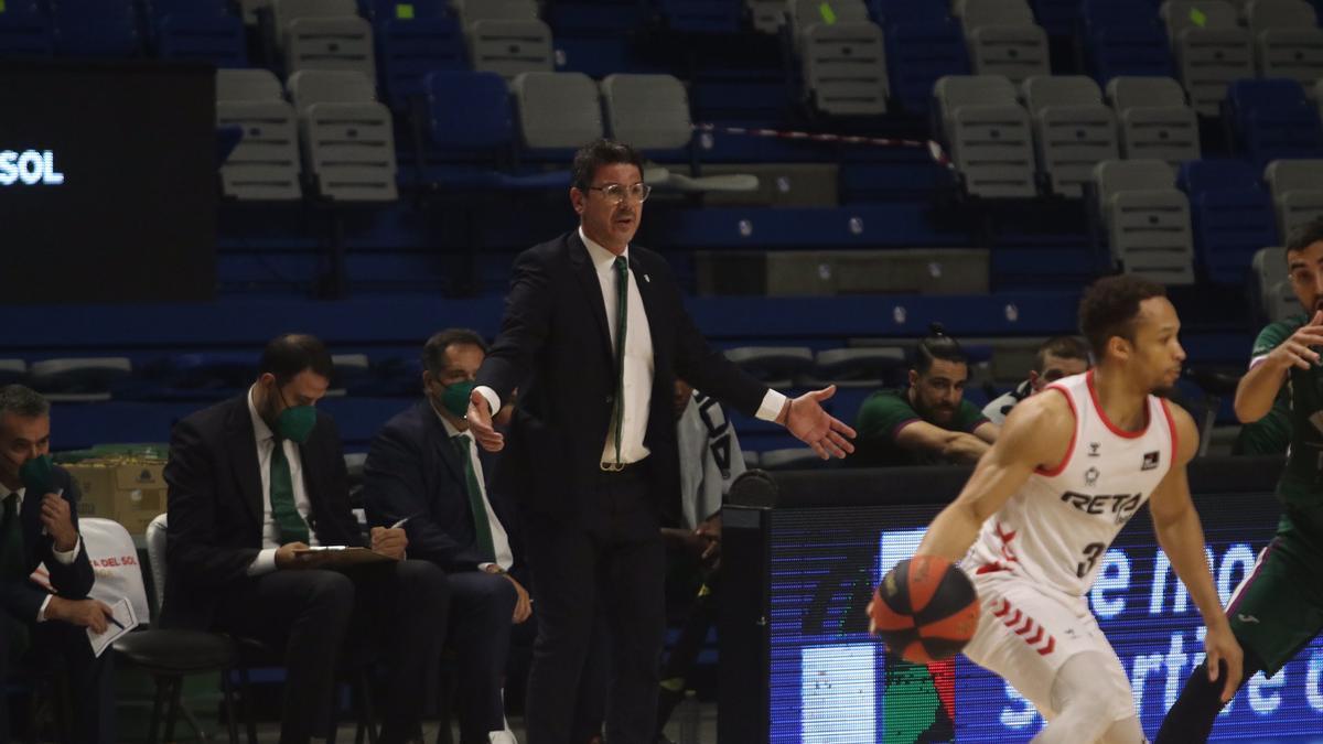 Fotis Katsikaris, durante el partido contra el Bilbao Basket.