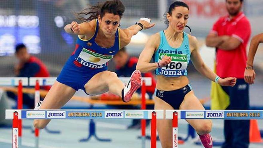 Caridad Jerez defiende su corona de atletismo en el Nacional indoor