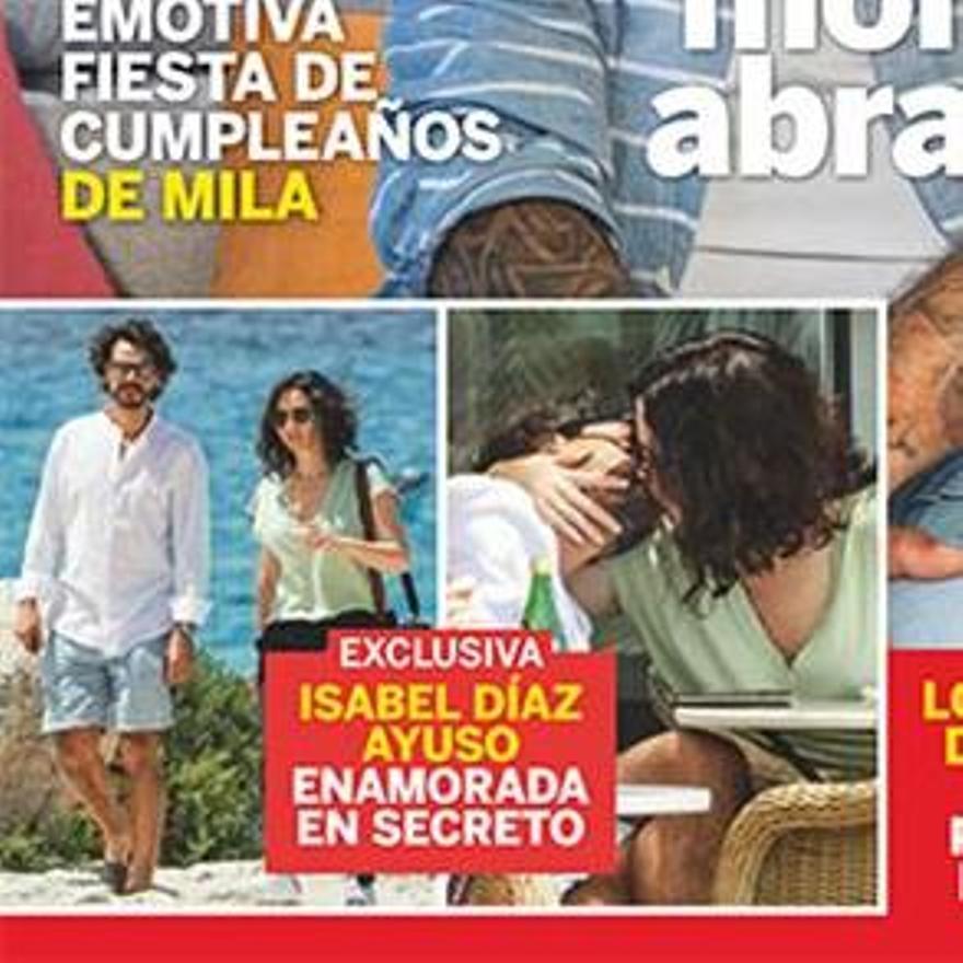 Díaz Ayuso, días de descanso en Ibiza, en la portada de Lecturas.