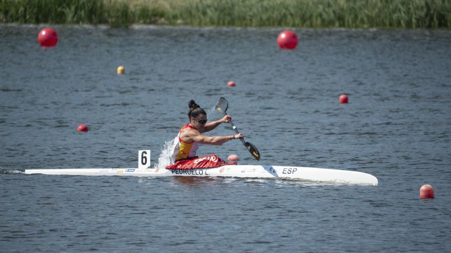 Piragüismo | Laura Pedruelo acaricia la medalla en la final K-1 1000 del Europeo