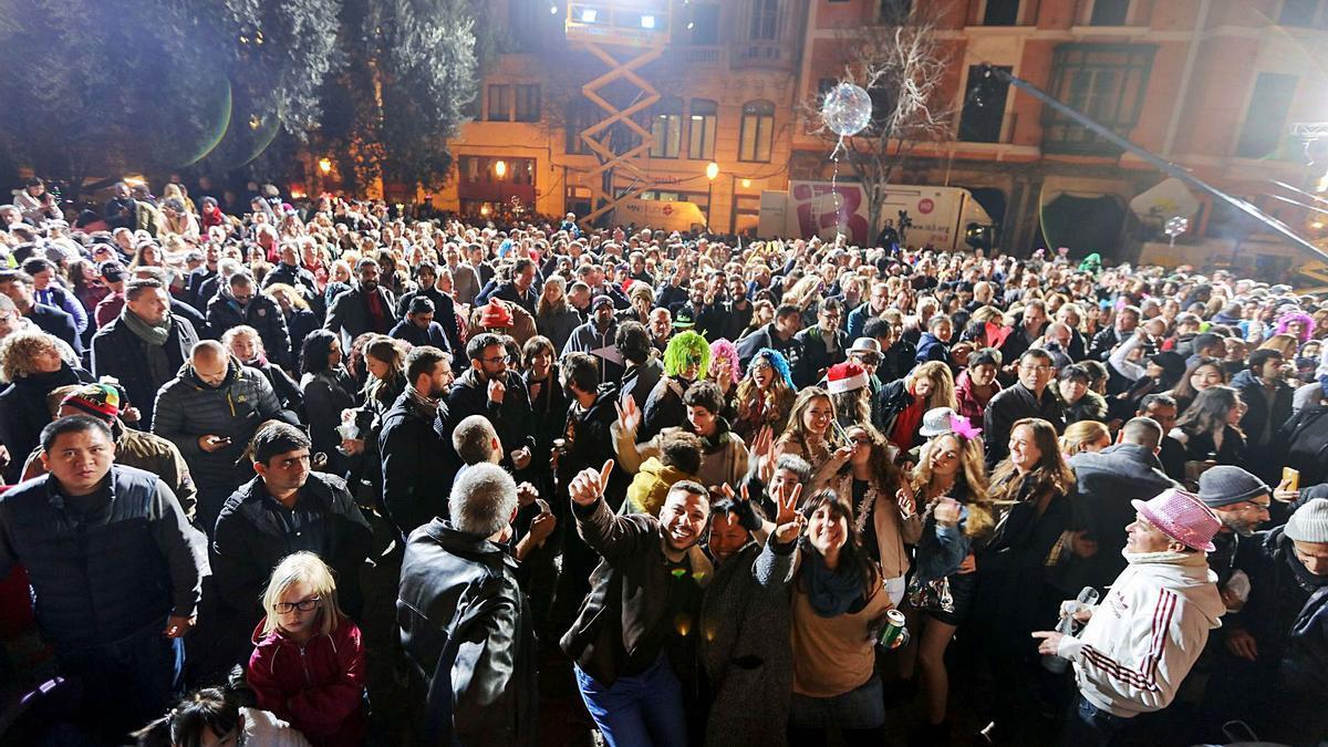 El Consistorio quiere evitar que este año se repita esta celebración de la Nochevieja en una plaza de Cort repleta de gente.