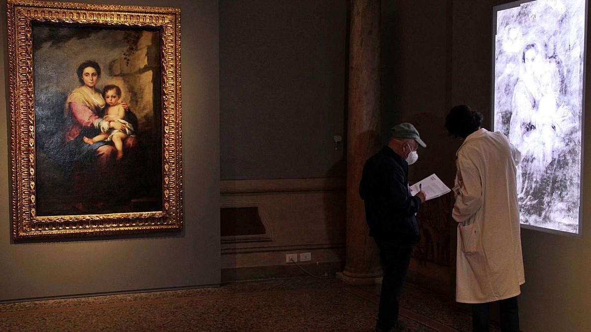 'La Virgen de la Leche', expuesta en Roma tras su restauración, con el trabajo de investigación.