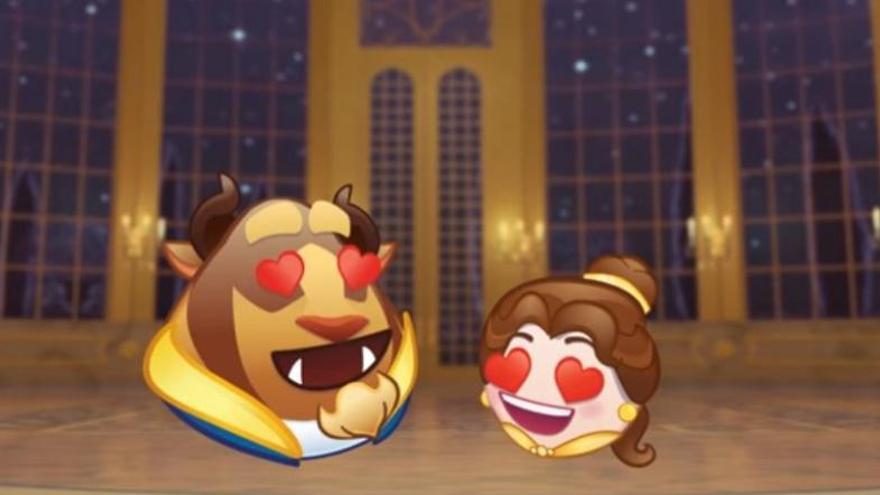 'La Bella y la Bestia' contada en emojis