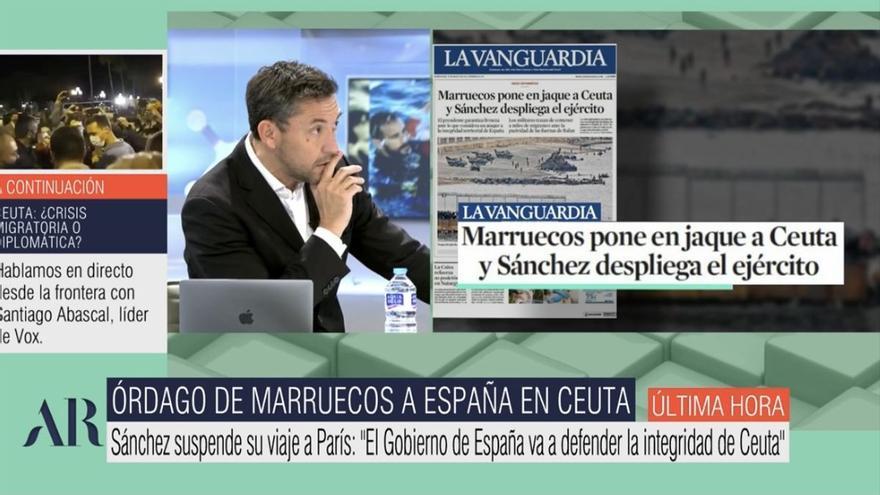 """Javier Ruiz reacciona a las palabras de Abascal en Ceuta: """"Me avergüenza. Es el discurso de Trump"""""""