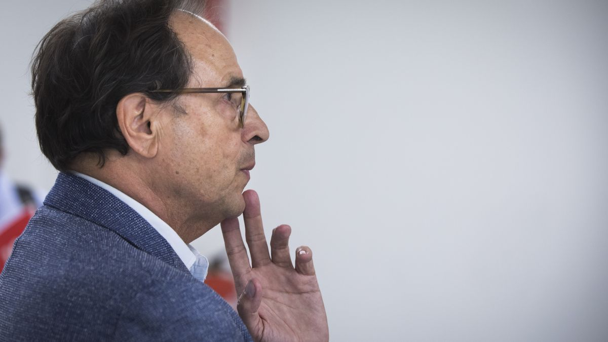 El conseller de Hacienda, Vicent Soler, en una comparecencia pública