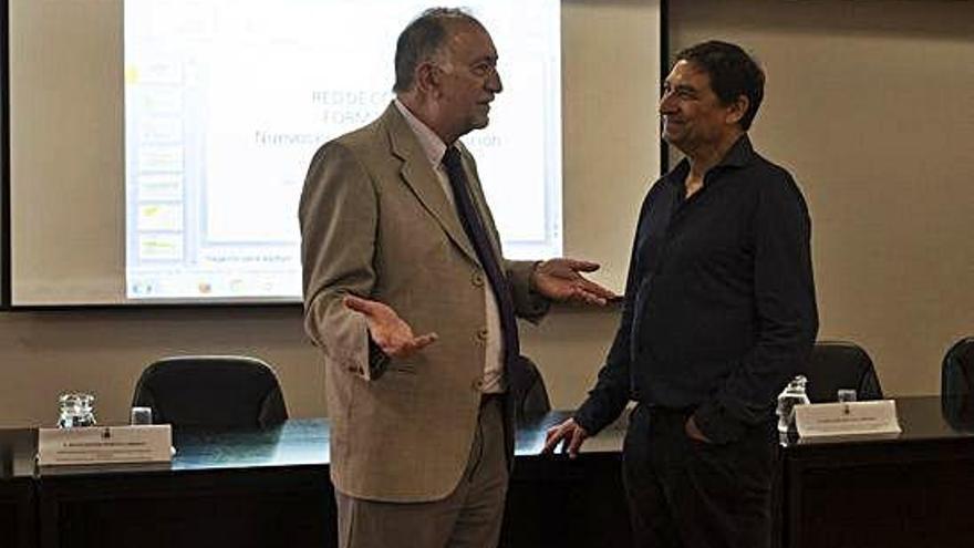 Hermenegildo Marcos y José Ramón Repullo intervinieron en las Jornadas del Colegio de Médicos